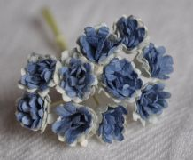2 TONE BLUE (NAVY) GYPSOPHILA / FORGET ME NOT Mulberry Paper Flowers